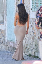 Demi Rose Mawby - Wearing a skin tight dress on set of a photoshoot in Ibiza 5/13/18