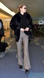 Gigi Hadid - At Haneda International Airport in Tokyo 1/26/18