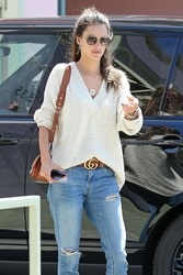 Alessandra Ambrosio - Out for lunch in Santa Monica 4/19/18