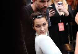 Bella Hadid Backstage at the Prabal Gurung Fashion Show in New York City - 9/9/18
