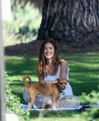 Minka Kelly - At a dog park in Beverly Hills 7/17/18