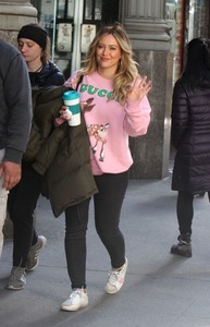 Hilary Duff - On the set of Younger in NYC 4/2/19