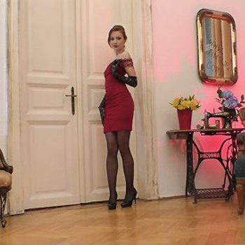 Chelsy Sun - Red Head In Red Dress (2018) HD 1080p