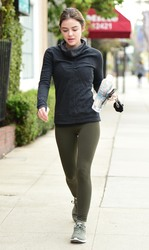 Lucy Hale - Going to the gym in LA 4/4/18
