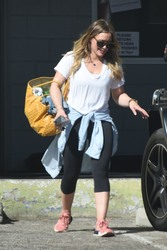 Hilary Duff - Leaving the gym in Beverly Hills 3/5/18