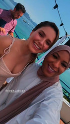 Sophia Bush With Ibtihaj Muhammad in Cannes, France - 6/20/18 Instagram Stories