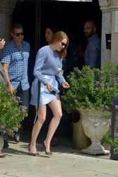 Emma Stone - Leaving the Excelsior Hotel in Venice, Italy, 8/30/2018