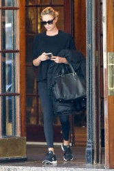 Charlize Theron - Leaves her hotel in Montreal 10/23/17