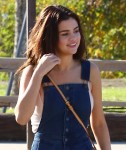 Selena Gomez at Lake Balboa park in Encino 02/02/201842a8e8737640713
