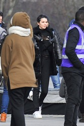Kendall Jenner - Filming an ad in Paris 3/20/18