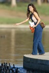 Selena Gomez at Lake Balboa park in Encino 02/02/2018f63971737639653
