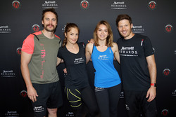 Minka Kelly and Aimee Teegarden at the Spartan Super Race in Richmond, Illinois - June 11, 2016