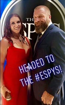 Stephanie McMahon - Big Boobs In Red Jumpsuit At The 2019 ESPN ESPYS