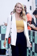 Leven Rambin - Arriving at AOL Build Studios in NYC 9/4/18