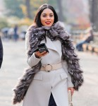"Vanessa Hudgens -        ""Second Act"" Set New York City December 4th 2017."