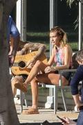 Hailey Baldwin - Wearing a bikini on set of a photoshoot in LA 12/4/2018 5d42401053696644