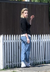 Emma Roberts - Taking a smoke break in LA 3/14/18