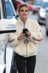 Lucy Hale - Leaving the gym in LA 2/17/19