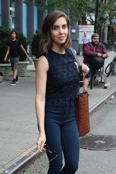 Alison Brie - Leaving The Bowery Hotel in NYC 6/18/18