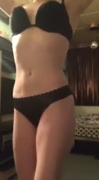 girlfriend plays with buttplug in her ass while watching Periscope porn