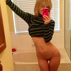 Hot blonde shows her hot body