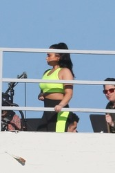 Demi Lovato on the set of a Fabletics photoshoot in Los Angeles - 2/11/20