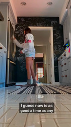 Nina Dobrev Cleaning Her Kitchen - 3/26/20 Instagram Videos
