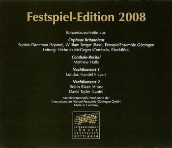 Orpheus Britannicus. Festspiel-Edition (2008) FLAC