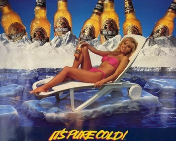 Pamela Anderson: Early 90's Michelob Poster: HQ x 1