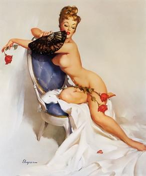 Американский художник Gil Elvgren - Великий классик Pin-up (807 фото)