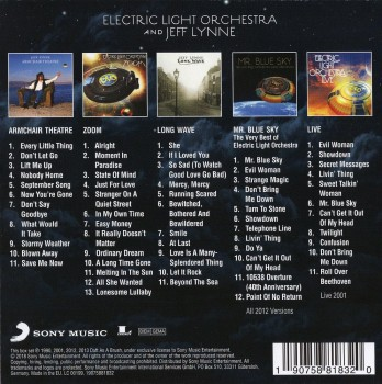 Electric Light Orchestra & Jeff Lynne - Original Album Classics (Box Set, 5CD) (2018) FLAC
