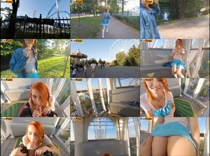 Elin Flame - Public Blowjob On Ferris Wheel