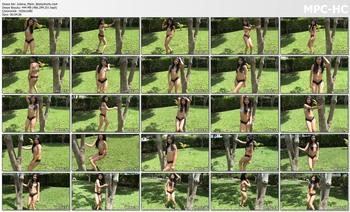 Juliana Marin doing a video dance in some booty shorts
