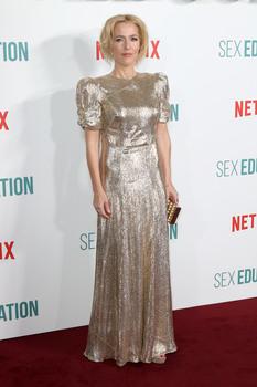 Gillian Anderson, Sex Educatin S2 premiere, London 08/01/2020