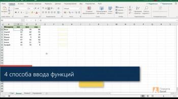 Функции Excel - самое нужное (2020) Видеокурс