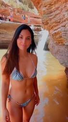 Olivia Munn in a Bikini - 7/3/20 Instagram Video