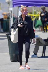Brie Larson at a Farmer's Market in Malibu - 4/19/20