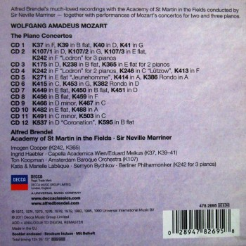 Mozart: Piano Concertos (12CD Box Set) (2011) FLAC
