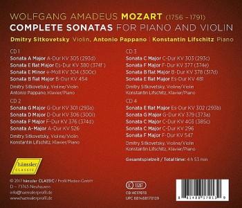 Mozart: Complete Sonatas For Piano & Violin (2018) FLAC
