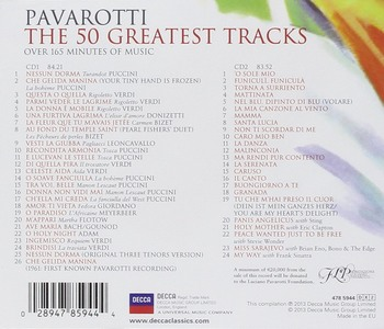 Luciano Pavarotti - The 50 Greatest Tracks (2CD Set Remastered) (2013) FLAC